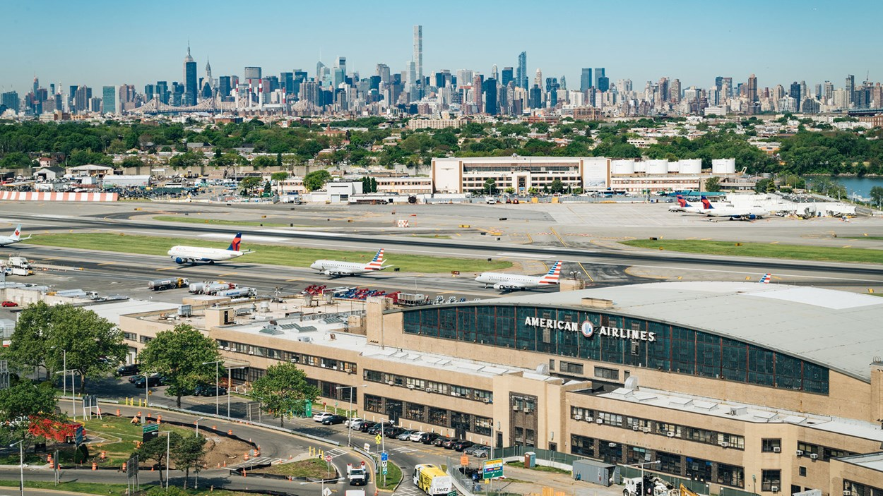 LaGuardia airport, New York, USA