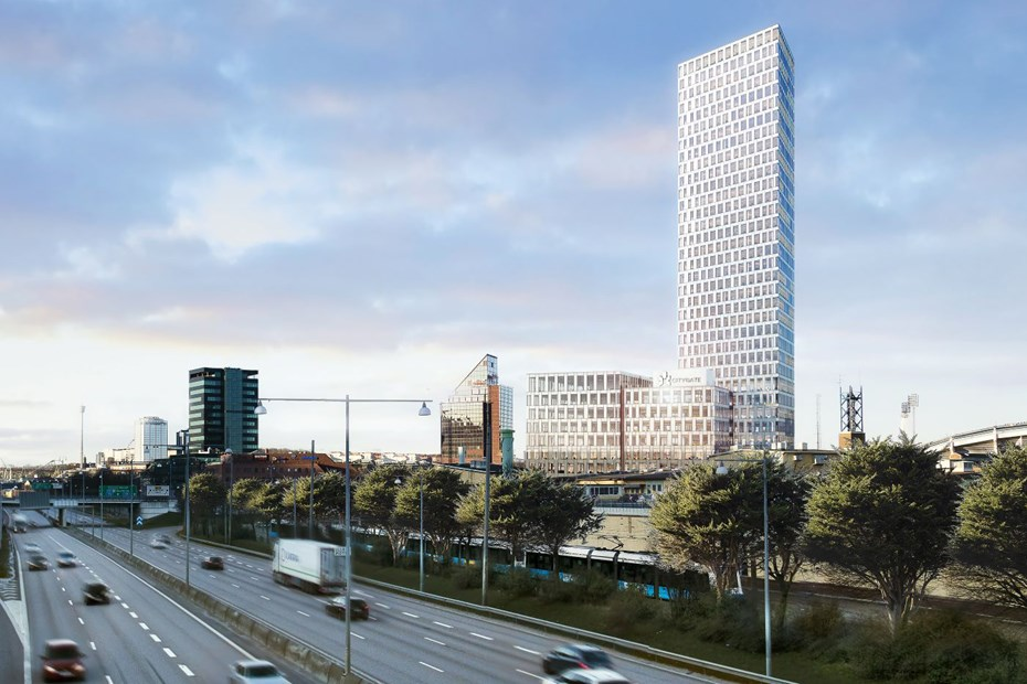 Citygate, office building at Ullevimotet E6, Gothenburg