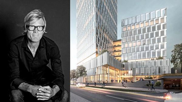 Citygate, ett 35 våningar högt hus i Göteborg. Ritat av Henning Larsen Architects och Soren Ollgaard.