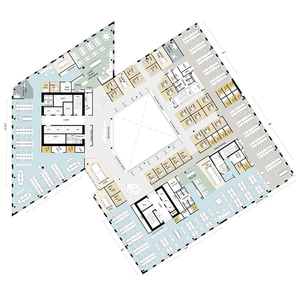 Citygate, ritning lågplan 4-7