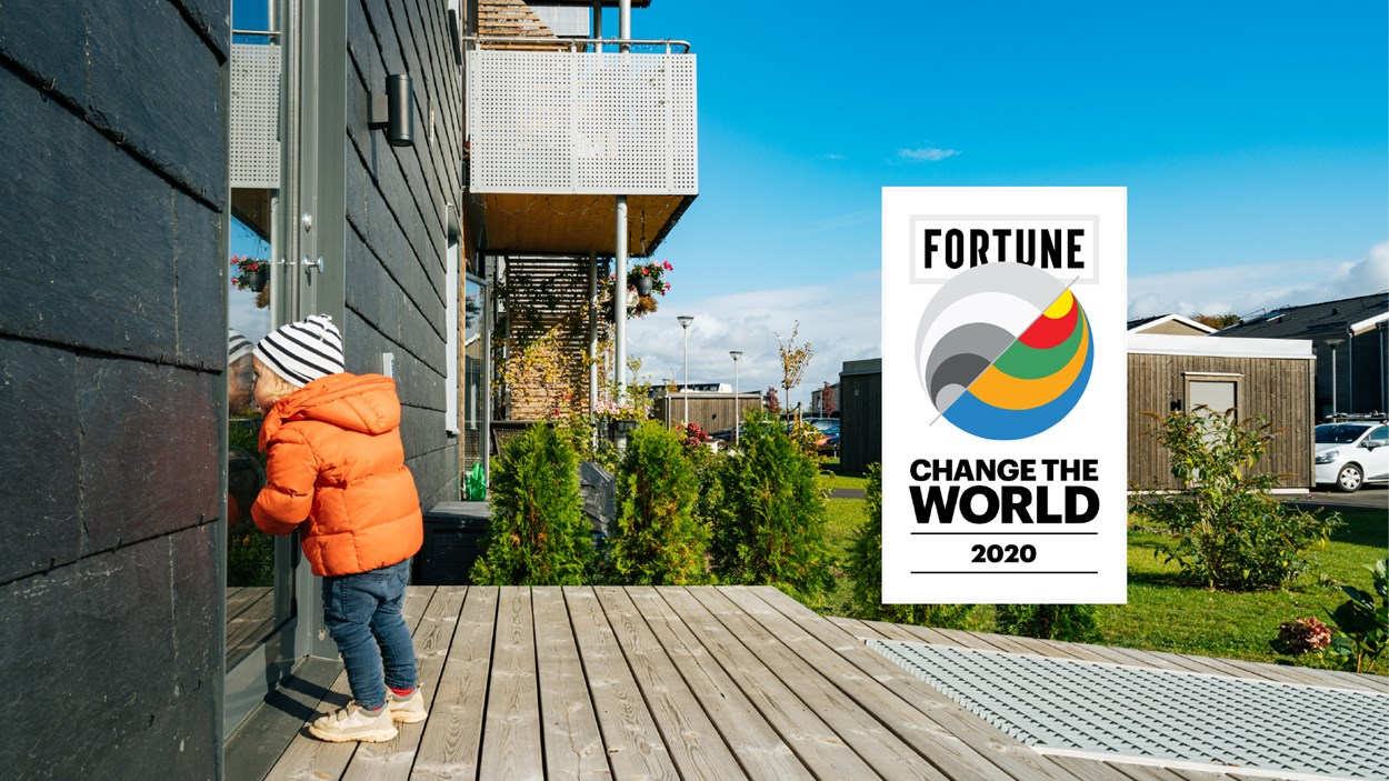 "Skanska på plats 17 enligt Fortune Magazines lista ""Change the world""."