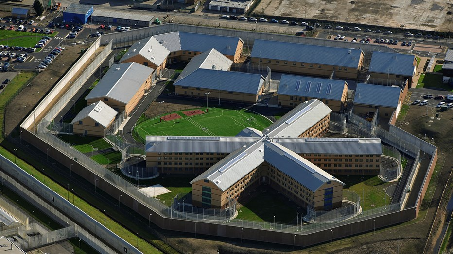 An aerial view of HMP Thameside