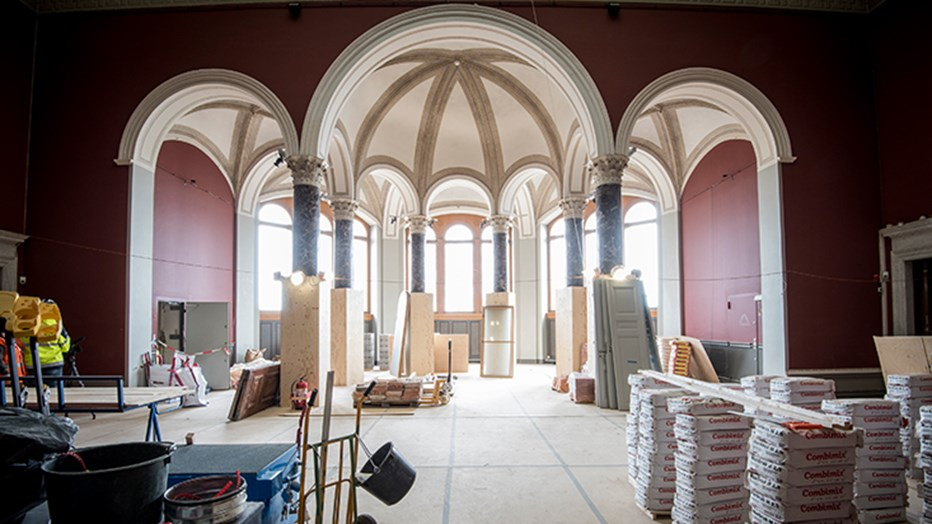 Letting the light back into Nationalmuseum. Photo: Urban Jörén
